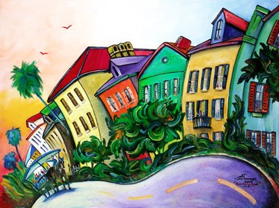 da75030842c Rainbow Row 2 - The Art of Steven Schuman