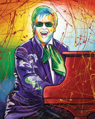 Elton John Oil Painting